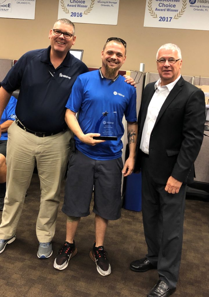 Matt Lettieri in Orlando accepting 2018 quality matters award