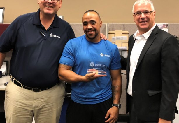 Ricky Madden in Orlando accepting 2018 van operator of the year award