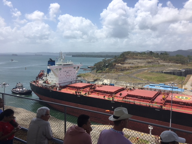 A tour of a cargo ship in the Panama Canal