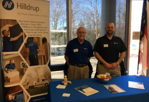 Gary Prather and Jeremy Williams preparing to meet students for future workforce