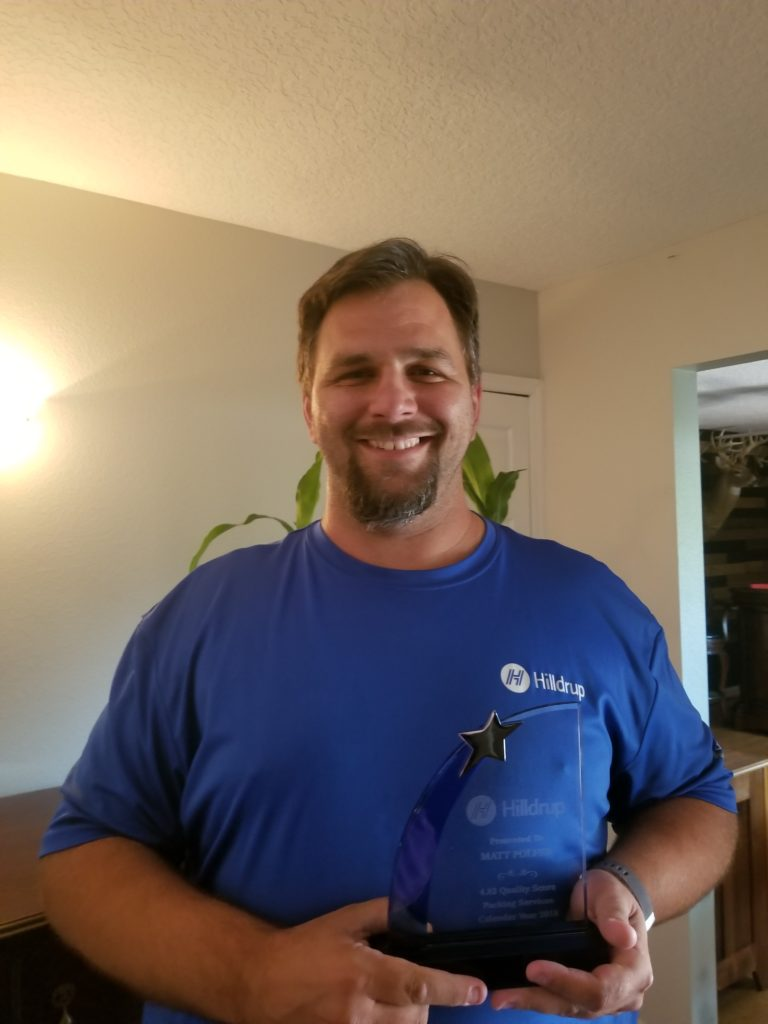 Matt Polfer in Orlando accepting award