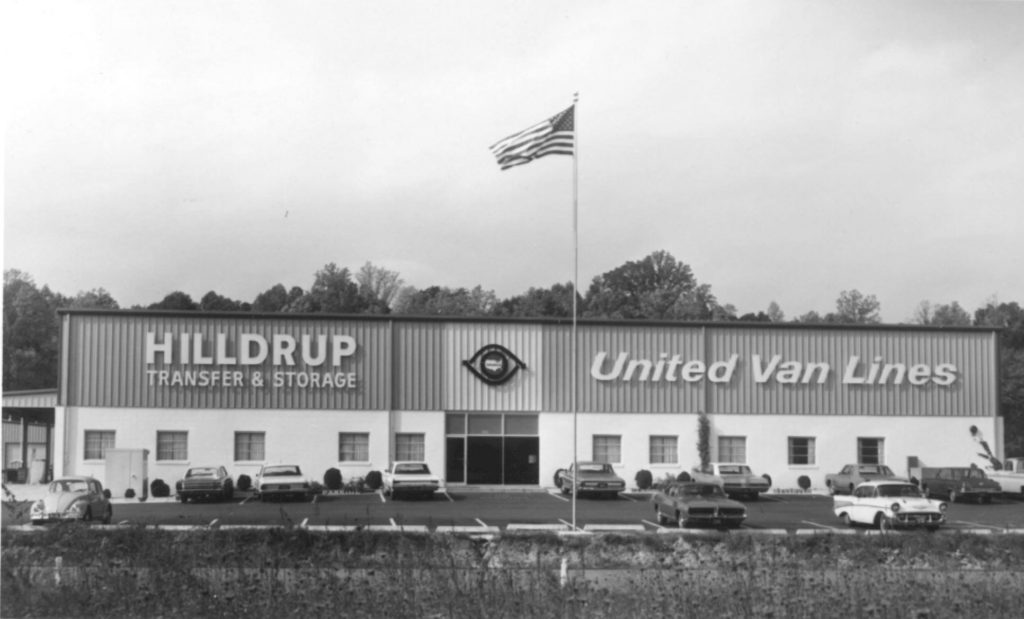 The Hilldrup and United Van Lines transfer and storage terminal 55 years ago