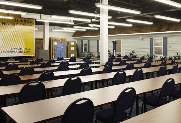 Hilldrup's Stafford location's training room