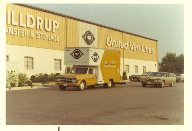 Hilldrup United Van Lines truck 55 years ago
