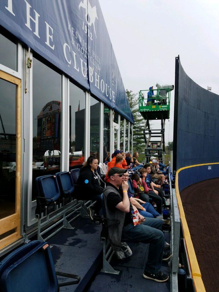 Hilldrup employees attending a UVA versus Miami baseball game