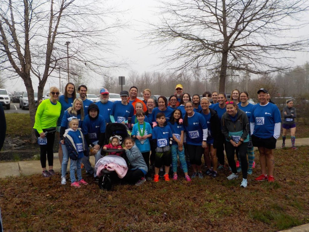 Hilldrup employees from Stafford group photo at the Stafford Hospital 5k
