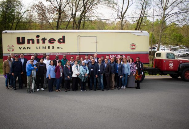 Group photo of the Department of State's transportation division at the Stafford location