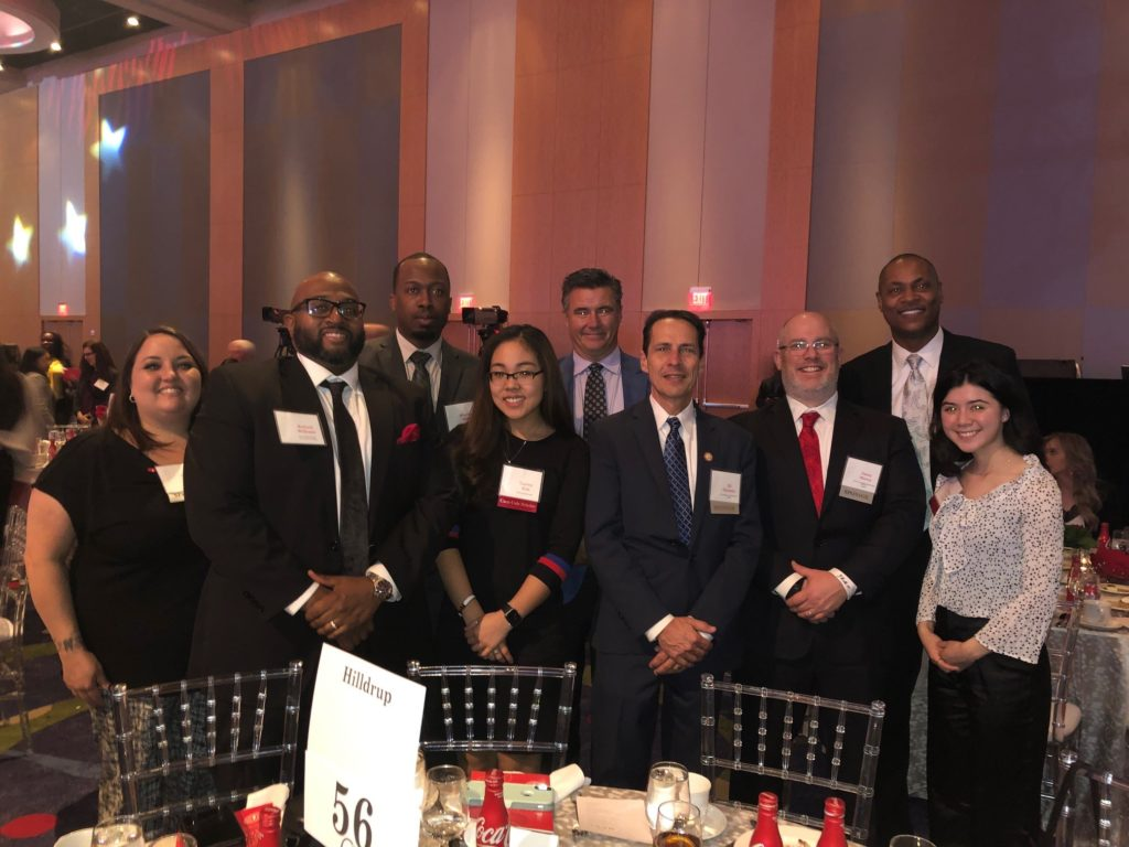 Hilldrup Atlanta Team with the Coca-Cola scholarship winners