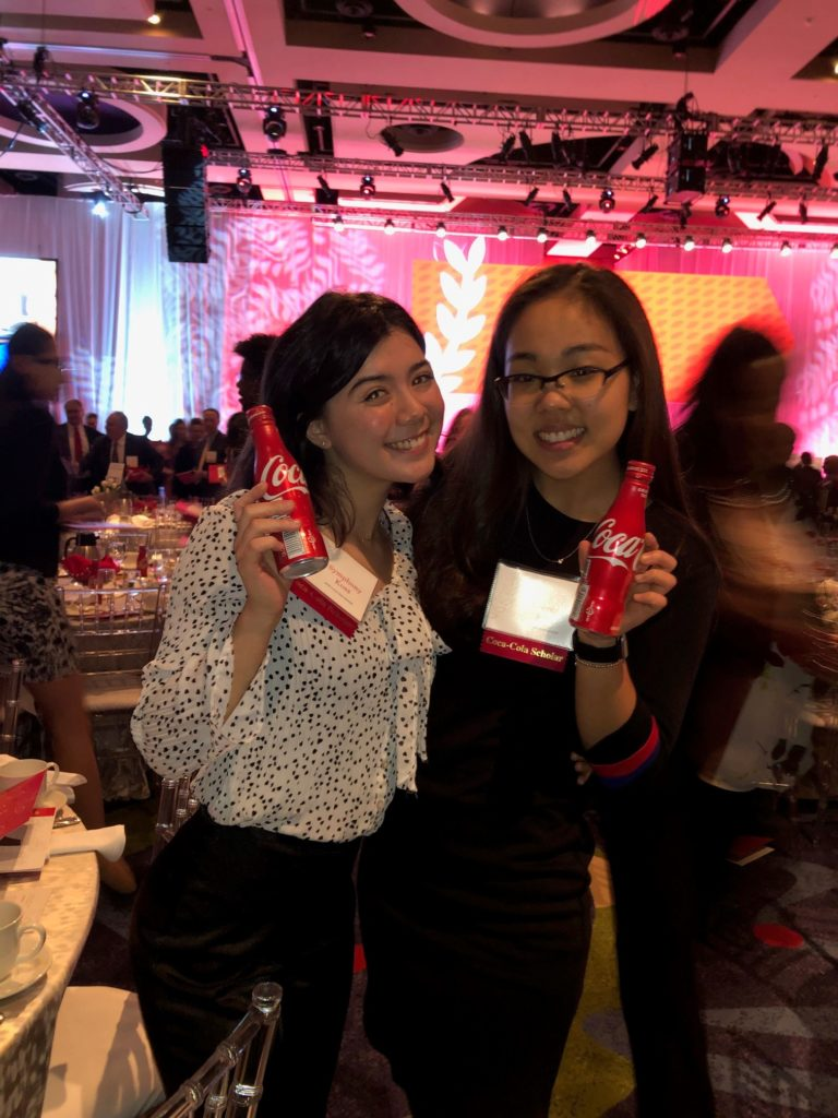 Two of the Coca-Cola scholarship winners at the event in Atlanta