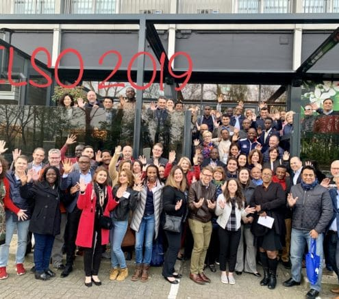 A group photo of participants of an ELSO Workshop in Belgium