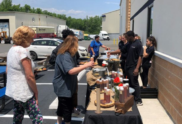 Hilldrup employees enjoying a summer BBQ