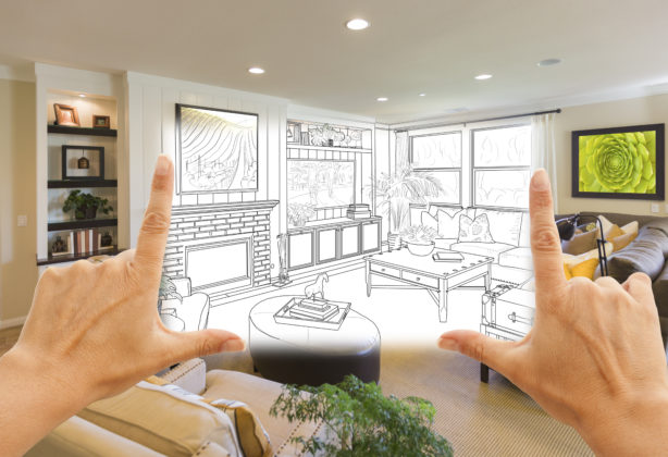 Blueprint image of idea for home decorating