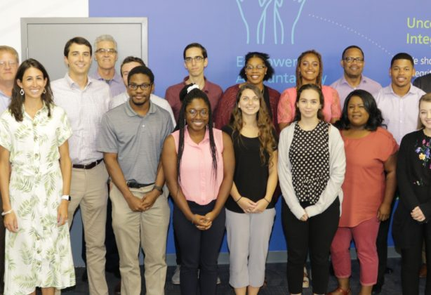 Hilldrup's interns with members of Hilldrup's Senior Management Team