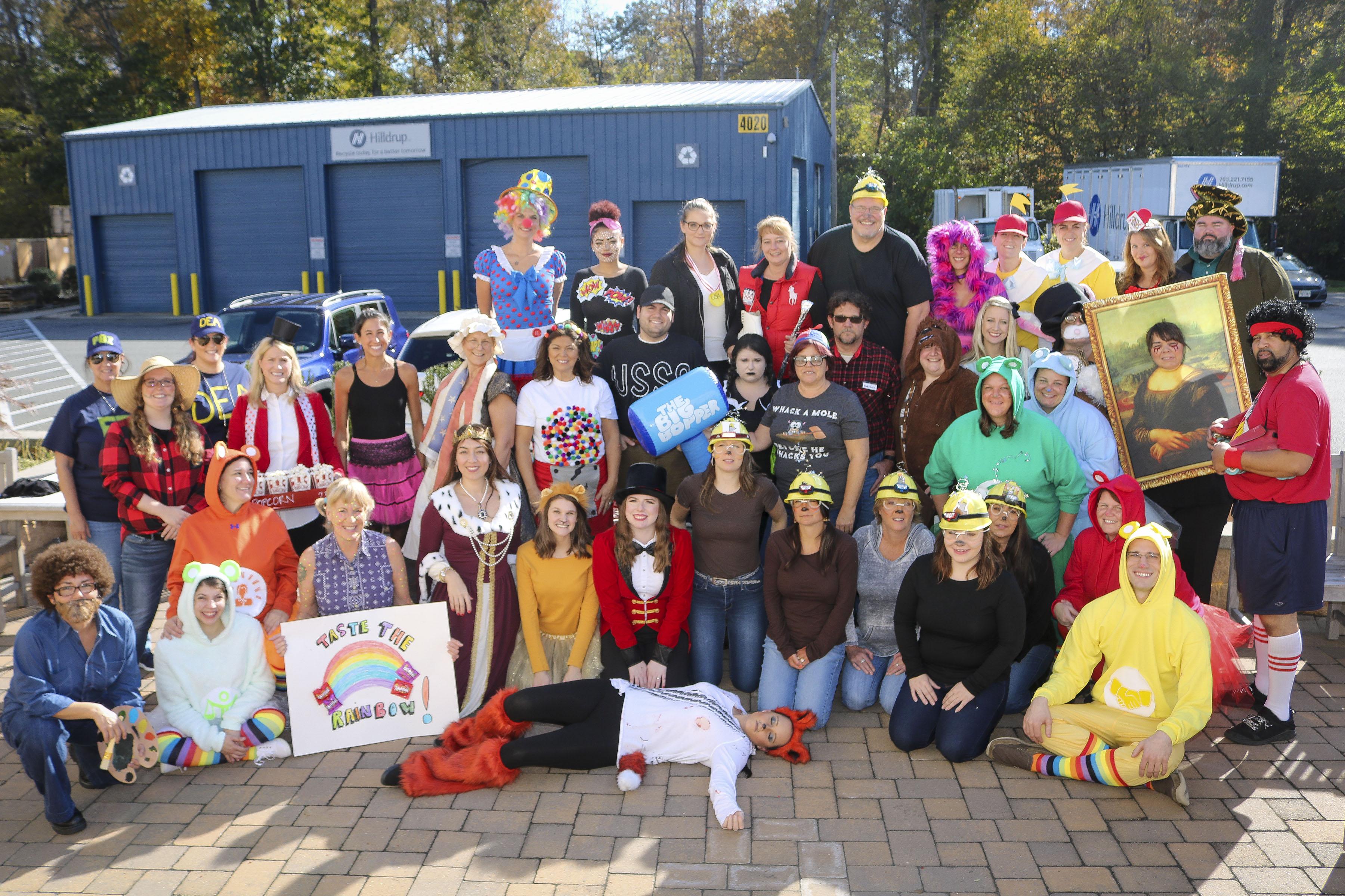 Hilldrup Stafford employees Halloween 2018