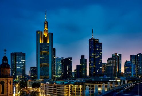 A skyline of Frankfurt