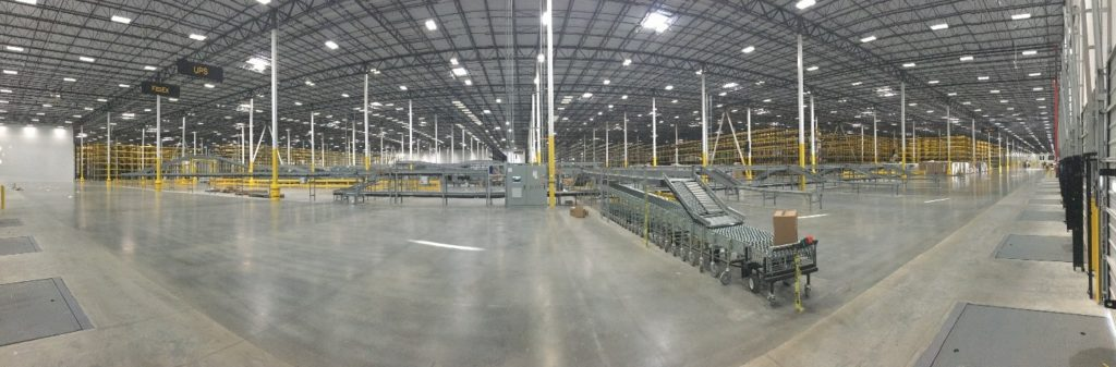 The inside of HD Supply's warehouse in Atlanta