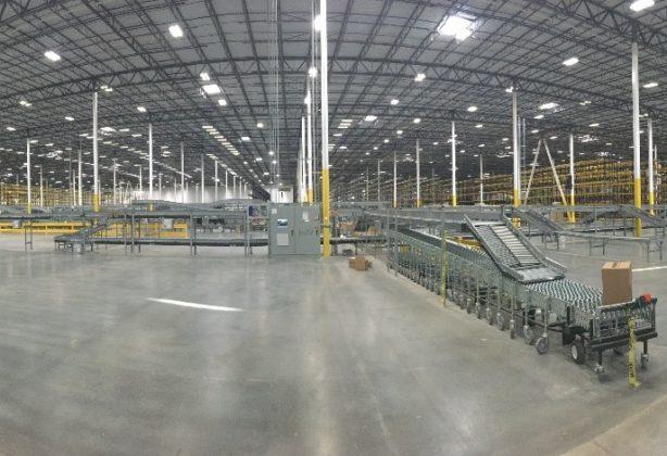 The inside of HD Supply's warehouse in Atlanta