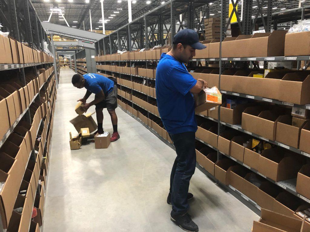 Hilldrup employees organize a facility's contents in Atlanta