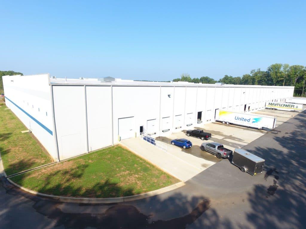 The back of Hilldrup Atlanta's new warehouse