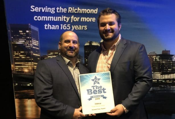 Richmond team winning Best Moving Company in Richmond for the third year in a row.