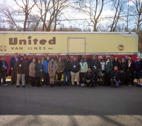 State Department get a picture with the vintage United Van