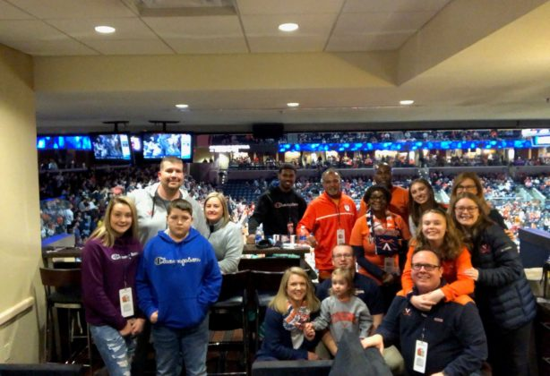 Hilldrup got a group photo with our families before the UVA game we attended.