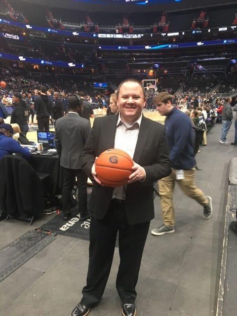 Matt Dodson in attendance at the Georgetown vs. Butler basketball game