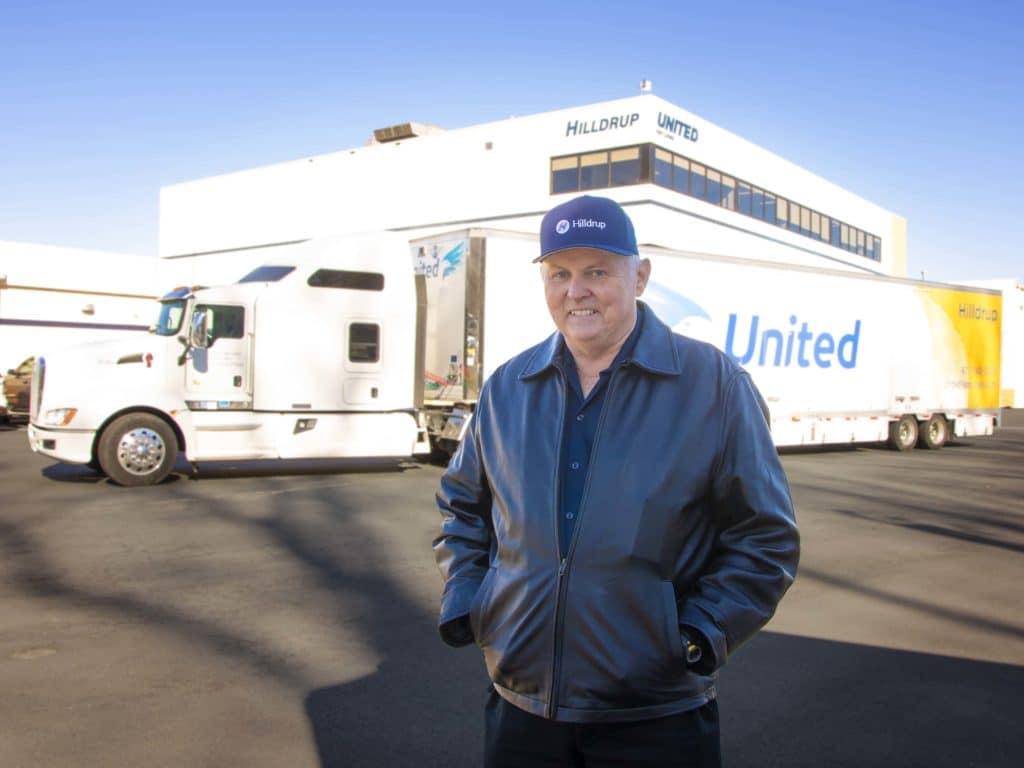 Johnny Abbott, Van Operator, outside of Hilldrup's Headquarters