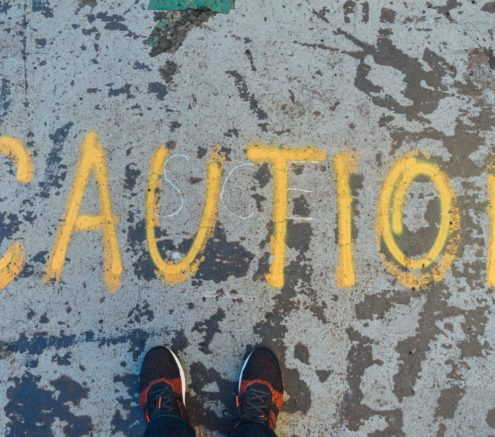Caution on concrete