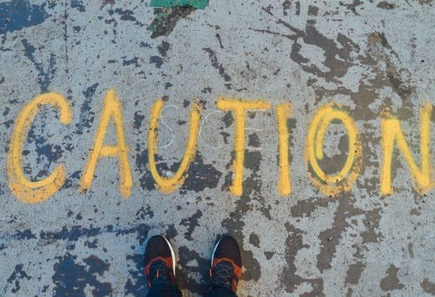 Caution on concrete