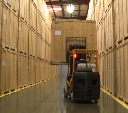Climate Controlled Storage in our Warehouse