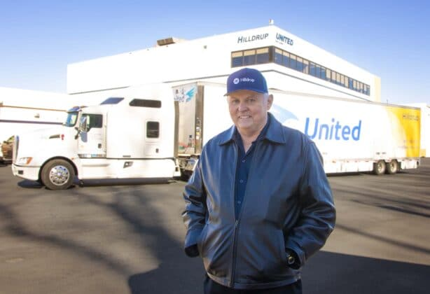 Johnny Abbott with his truck.