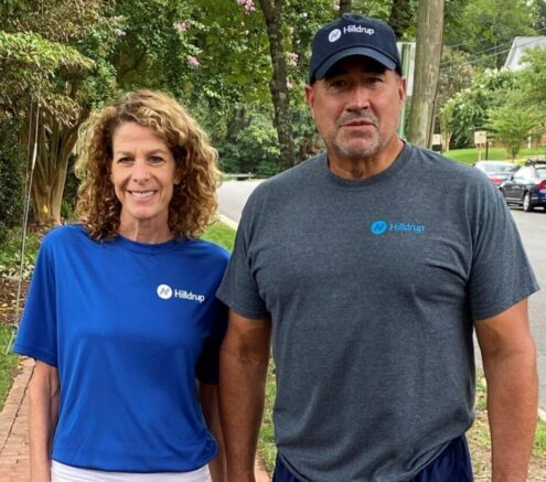 Tricia and Charles W, McDaniel participate in the virtual Stafford 5K