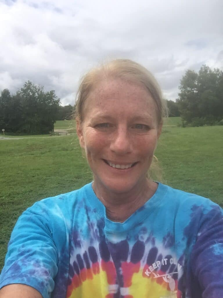 Jami McKenna snaps a selfie during her 5K to support Stafford Hospital.