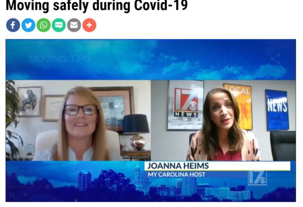 Hilldrup's Amy McKinney is featured on CBS17 News to talk about moving during COVID.