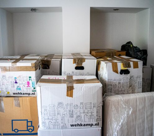 Picture of moving boxes.