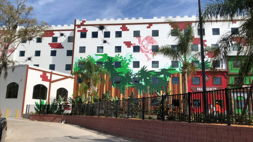 The exterior of Legoland Hotel in central Florida.