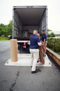 Hilldrup's team loading a truck for final mile deliveries.
