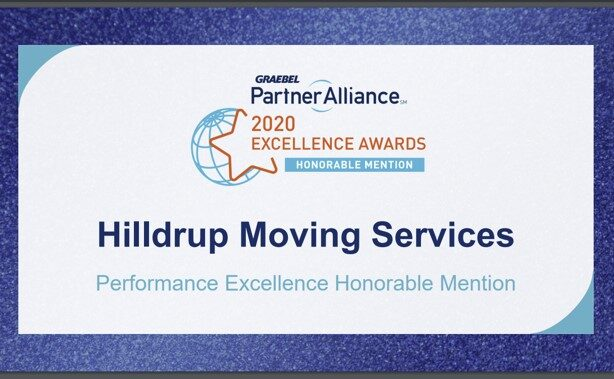 Hilldrup's 2020 Partner Alliance Award from Graebel