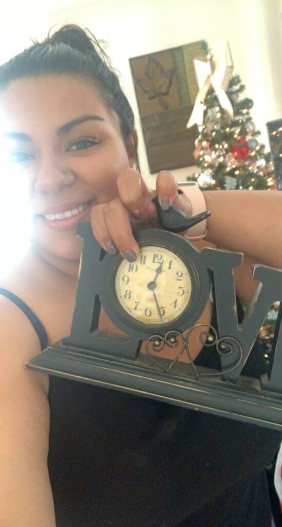 Hilldrup employee takes a selfie for a virtual Christmas game.