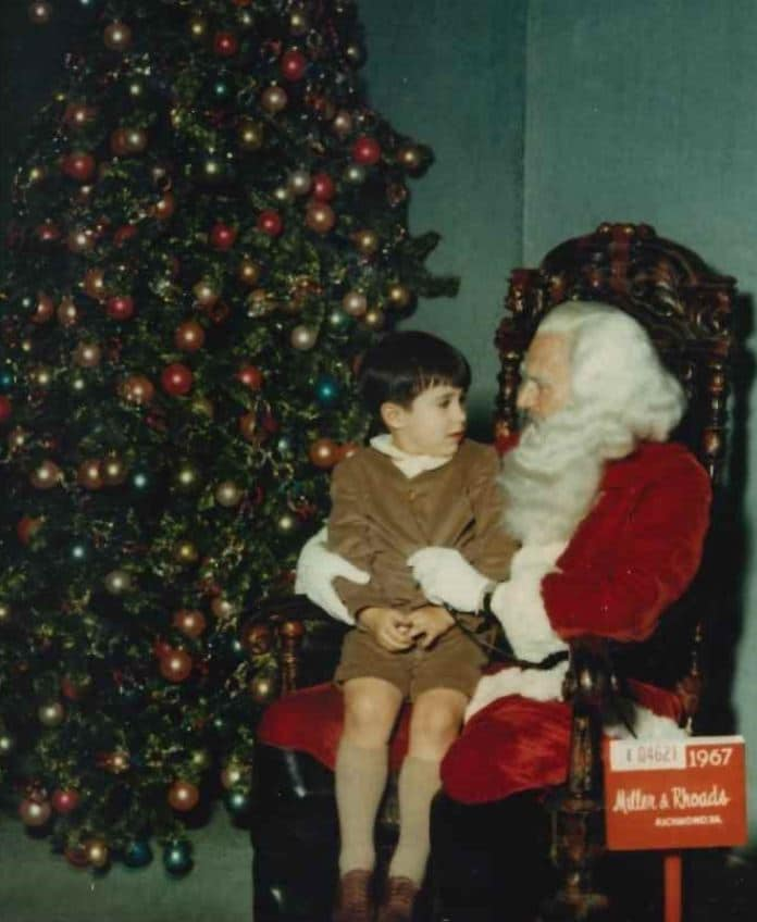 Hilldrup's President and CEO as a child on Christmas.