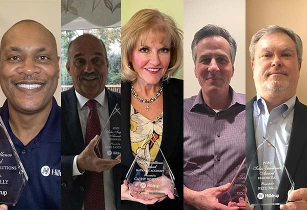 Hilldrup's Sales Achievement Award winners