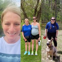 Collage of Hilldrup's participants for the 2021 Stafford Hospital Virtual 5K