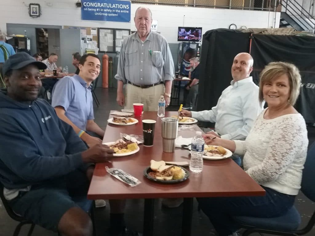 Team Hilldrup enjoys Ron Lewis' retirement party at Stafford.