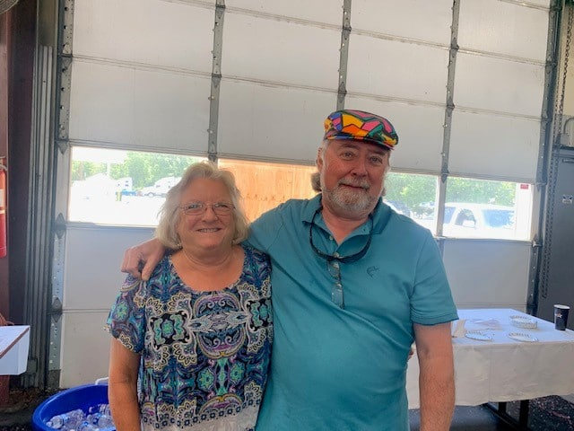 Ron Lewis and his wife Marsha at his retirement party at Hilldrup.