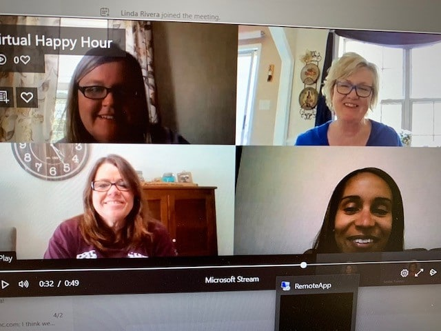 Hilldrup's Quality team on a virtual call.