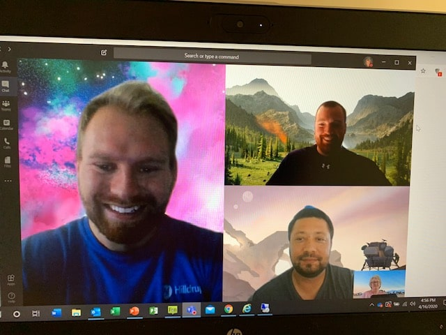 Hilldrup's Quality team joins together virtually.
