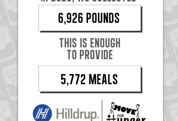 Hilldrup's 2020 contributions to Move For Hunger