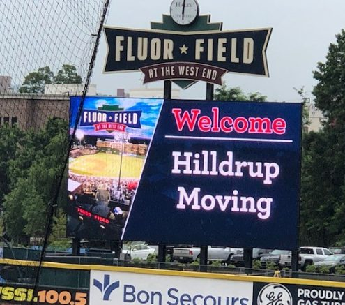 Hilldrup is featured on the jumbotron.