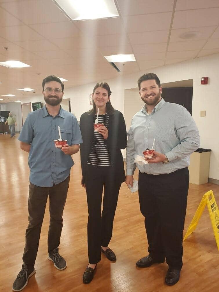 Employees at UniGroup enjoy ice cream.